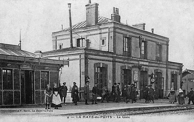 Fichier:Gare-La Haye-du-Puits-CP1900.jpg