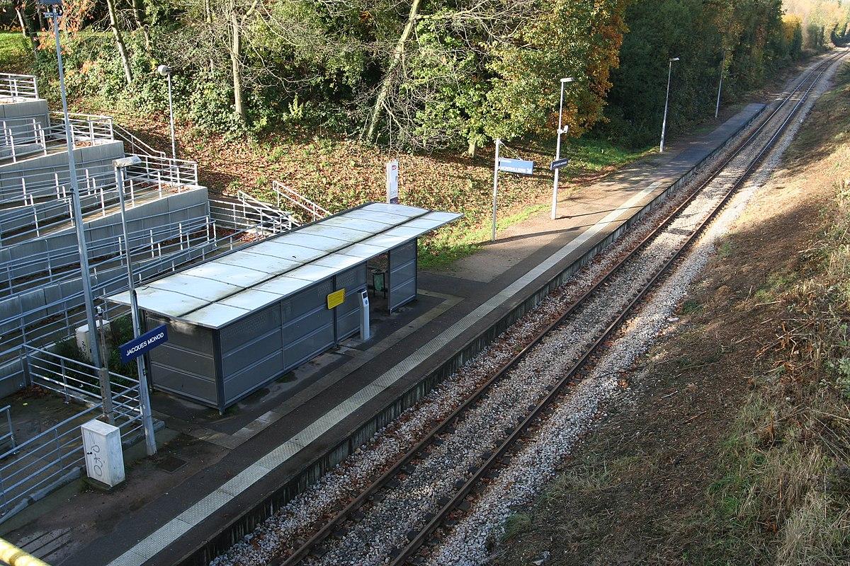 Gare de jacques monod la demi lieue wikip dia for Garage de la gare bretigny