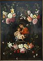 Garland of Flowers with Madonna and Child, by Daniel Seghers and Cornelis Schut, 17th century, oil on panel - National Museum of Western Art, Tokyo - DSC08159.JPG