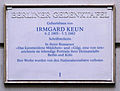 Gedenktafel Meinekestr 6 Irmgard Keun.JPG