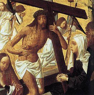 <i>Man of Sorrows</i> (Geertgen tot Sint Jans) painting by Geertgen tot Sint Jans