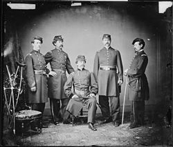 Gen. Daniel E. Sickles and staff of four - NARA - 528676.jpg