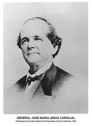 José María Jesús Carbajal - Photograph of General Jose Maria Jesus Carvajal made by Matthew Brady in 1866.