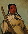 George Catlin - Chin-cha-pee, Fire Bug That Creeps, Wife of Pigeon's Egg Head - 1985.66.180 - Smithsonian American Art Museum.jpg