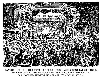 Taylor Opera House - Democratic State Convention of 1877 at the Opera House