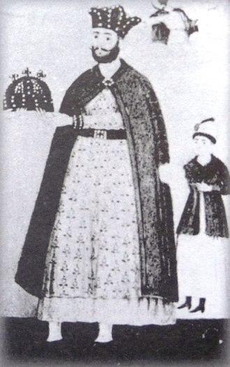 George VIII of Georgia - Image: George VIII (Svetitskhoveli fresco)