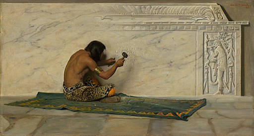 George de Forest Brush - An Aztec Sculptor (1887)