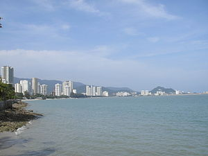 Tanjung Tokong - The skyline of Gurney Drive and Tanjung Tokong, as seen from the Esplanade in George Town.