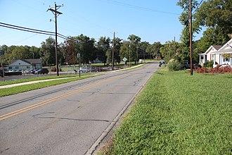 Chickamauga, Georgia - Georgia State Route 341 in Chickamauga