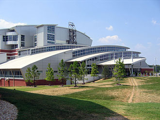 Swimming at the 1996 Summer Olympics - The front of Georgia Tech's Campus Recreation Center