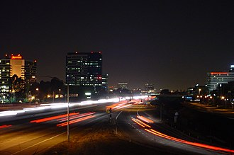 Irvine, California - A view of the Irvine Business Complex and the 405 Freeway