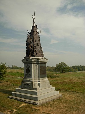 42nd New York Volunteer Infantry Regiment - 42nd NY Infantry Monument at Gettysburg