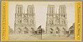Gezicht op de façade van de Notre-Dame in Parijs Vues pour Stéréoscope (serietitel op object), RP-F-F05679.jpg