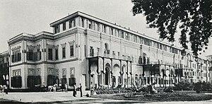 Gezirah Palace - Ghezireh Palace, Zamalek district, Gezira Island, Cairo (1906 - as Hotel)