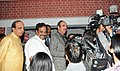 """Ghulam Nabi Azad briefing the media, at the concluding function of the Red Ribbon Express (RRE) train of the year long RRE project, on the occasion of the """"World AIDS Day"""", in New Delhi on December 01, 2010.jpg"""