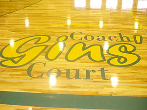 Hill City, South Dakota - Coach Gins Court in Hill City, SD. Home to the Rangers.