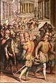 Giorgio vasari, prima storia della notte di san bartolomeo, 1573, 03 ammiraglio gaspard ferito.jpg