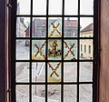 Glass painting on a window in the Burmeister house, Visby, Gotland 2.jpg
