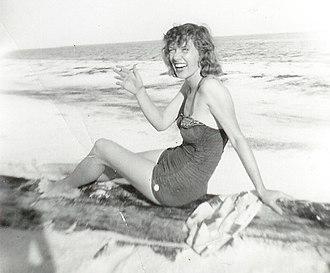 Gloria Carter Spann - Spann at Panama City, Florida, late 1950s