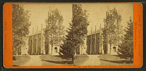 Gore Hall (Harvard College library) - Image by John P. Soule (1827–1904)