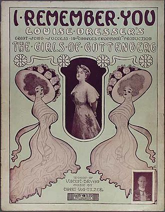 The Girls of Gottenberg - Sheet music cover