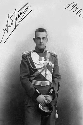 Grand Duke Andrei Vladimirovich of Russia - Grand Duke Andrei in 1900, the year he met Mathilde Kschessinska.