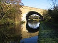 Grand Union Canal, Railway bridge near Winkwell - geograph.org.uk - 614528.jpg