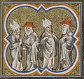 Grandes Chroniques de Frances de Charles V - BNF fr2813 f208 (Clercs se disputant).jpg
