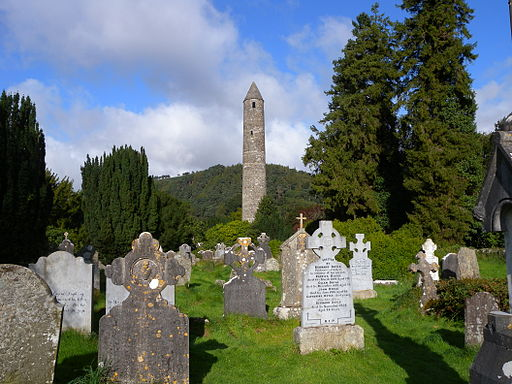 Gravestones at Glendalough