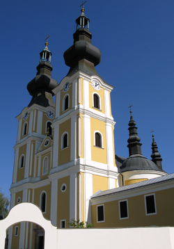Greek Catholic pilgrimage church, St Michael Archangel in Máriapócs.PNG