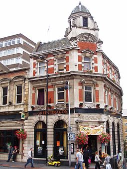 Victorian architecture in Croydon High Street Green Dragon, Croydon, CR0 (2770047591).jpg