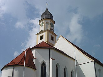 Bad Grönenbach - Parish church St. Philippus und Jakobus, Bad Grönenbach.