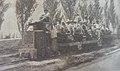 Grupo de obreros que trabajan en la canalizacion y rectificacion de Riachuelo, dirigiendose desde Nueva Pompeya a Puente de la Novi.jpg