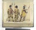 Guardia española, Casa real; Guardia alemana Casa real; Guardia de los archeros de la cuchilla en traje de guerra. 1660 (NYPL b14896507-87486).tiff