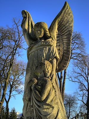 Guardian Angel. Statue on the Krasnystaw's cem...