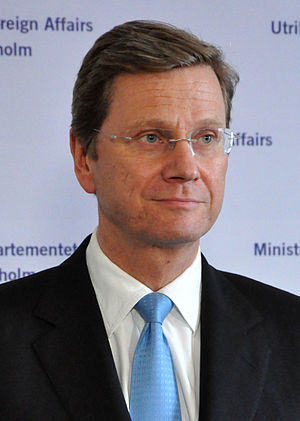 English: Guido Westerwelle at a meeting with C...