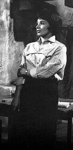 Gunnel Lindblom i Beskite hænder af Jean-Paul Sartre.   TV-teatret 1963