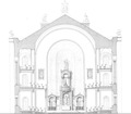 Gustav Adolf Kirche – Gumpendorf Aufrisz Altarraum 1.tif