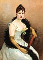 Gustav Wertheimer - Society Lady with Feather Boa.jpg