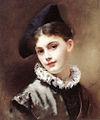 Gustave Jean Jacquet - A coquettish smile.jpg