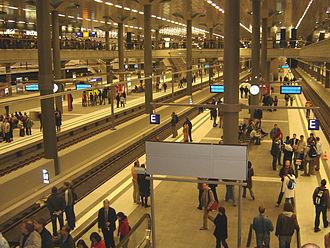 Berlin Hauptbahnhof - Underground platforms