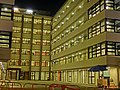 HK 深水埗 SSP 美荷樓青年旅舍 YHA Mei Ho House Youth Hostel - Block 41 Shek Kip Mei Estate 巴域街 Berwick Street Sham Shui Po Oct-2013 evening courtyard security officer.JPG