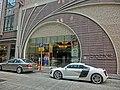 HK Jordan Nathan Road 長樂街 1 Cheong Lok Street 木的地酒店 Hotel Madera Hong Kong Jan-2014 entrance carpark Porsche white car.JPG