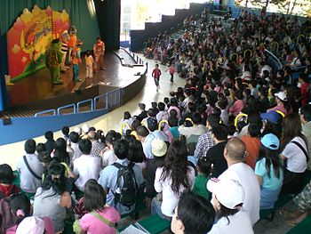 Audience at a show in Hong Kong.