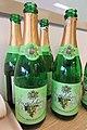 HK drink Seven Star White Grape Sparkling Soda water 蘇打水 碳酸水 汽泡水 green empty bottles product Taiwan Feb 2017 IX1 002.jpg