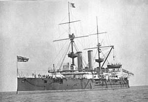 HMS Revenge (1892) - Image: HMS Revenge 1897