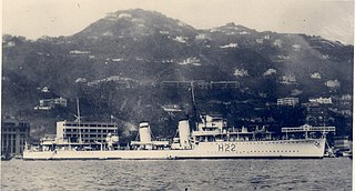 HMS <i>Diamond</i> (H22) D-class destroyer built for the Royal Navy in the early 1930s