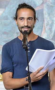 Hamadi Khemiri under Det Kgl. Svenske Teaters efterårssamling 2014.