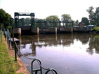 Hamme (river) - Image: Hammeschleuse