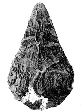 Hand axe -  The first published picture of a hand axe, drawn by John Frere in the year 1800.